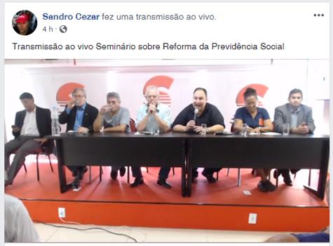 Transmissão ao vivo - Facebook